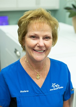Dental team member Marlene