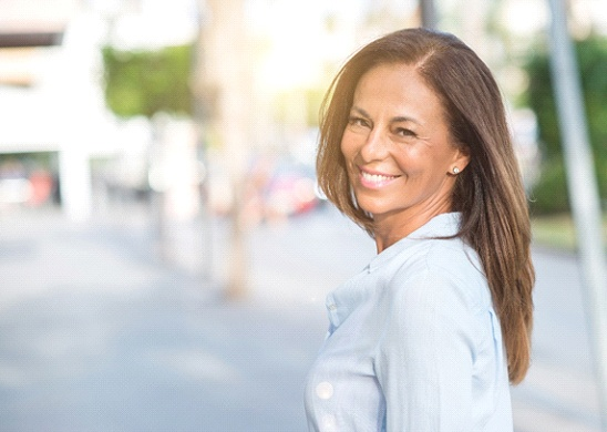 mature, smiling woman